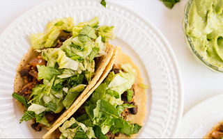 Tiny quinoa black bean tacos recipe